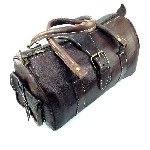 Handgjord skinnväska